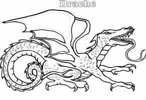 Drachen Ausmalbilder. 100 Schwarz Weiß Bilder kostenlos