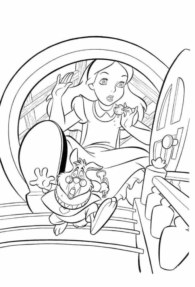 Alice in Wonderland Coloring Pages  23 images Free Printable