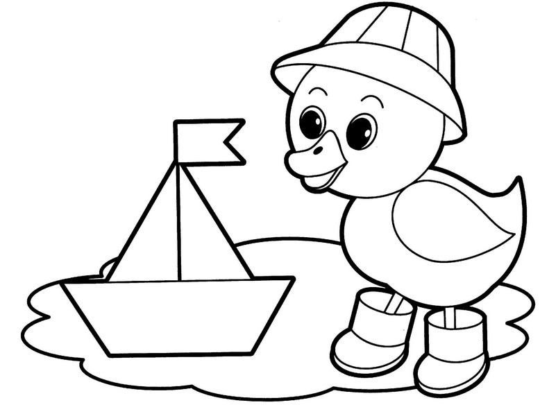 Coloring Pages for 2- to 3-Year-Old Kids. Download Them or