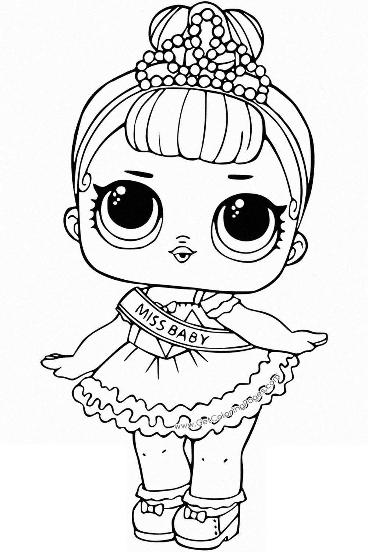 Pagine da colorare con bambole LOL Surprise. Stampa