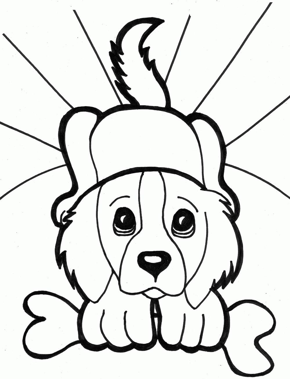 Hunde Malvorlagen für Kinder Drucken Sie online kostenlos!