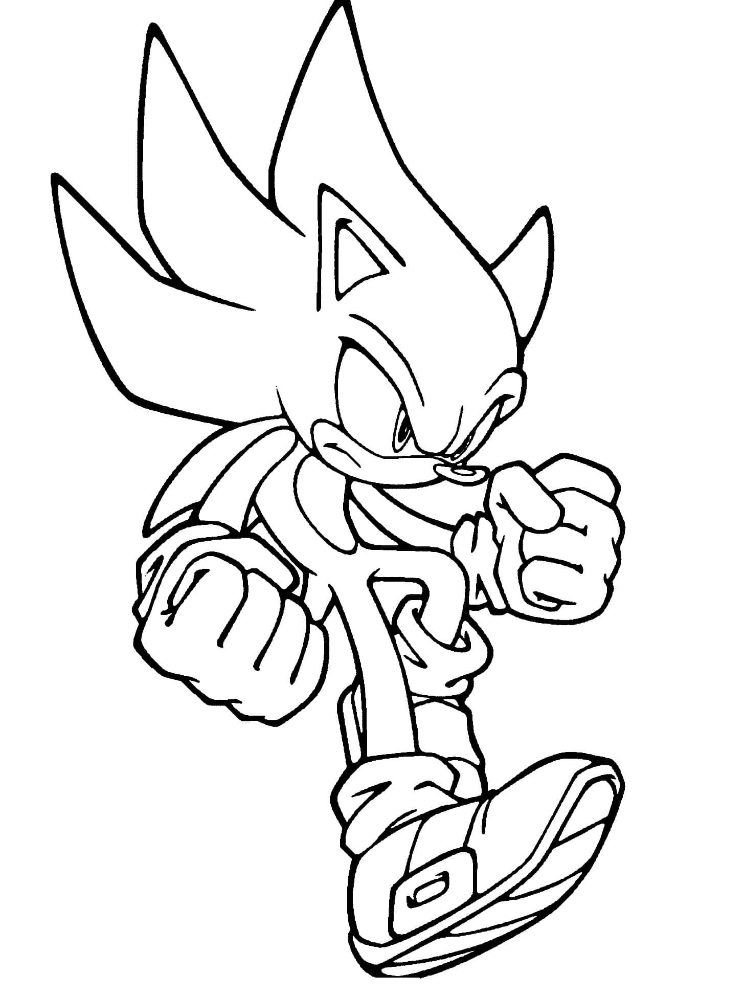Super Sonic Bilder Zum Ausmalen Kinder Ausmalbilder