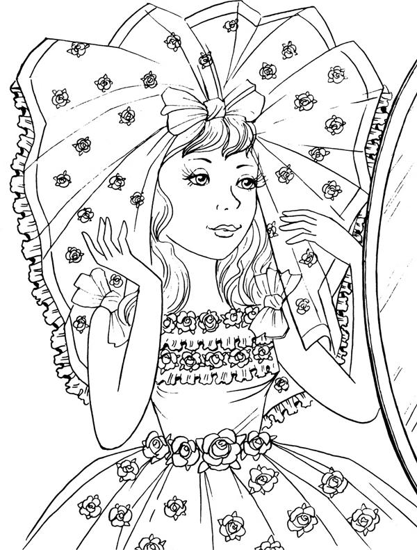 Coloring Pages For Girls Hard : coloring, pages, girls, Coloring, Pages, Girls, Images, Printable