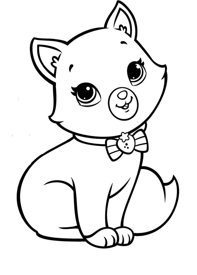 Раскраски Котята скачать и распечатать бесплатно, рисунки