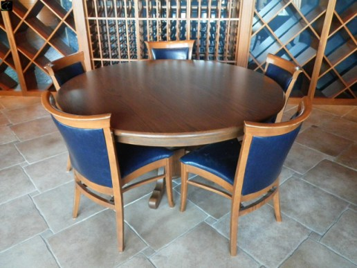 DINING TABLE 60W, OAK WITH WOOD BASE