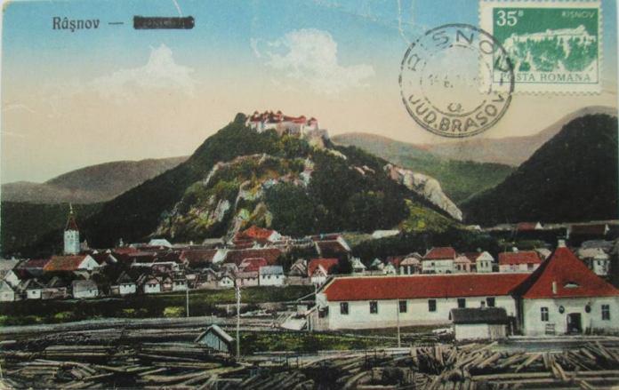 O vedere veche Exploatarea lemnului la Râșnov