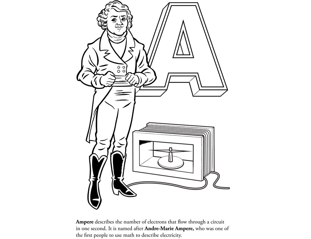 Coloring book — «Ladyada's E is for electronics