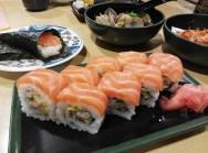 Salmon sushi for dinner