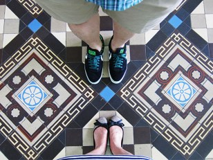 Blueberry was sent to Saigon for work and I tagged along. It was our first time to Vietnam and we enjoyed our stay there! Here we are at Saigon Central Post Office. The place was built between 1886-1891. Aren't the tiles beautiful? :D