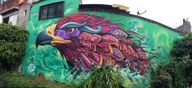 Mural El águila. La estación. Artista Farid Rueda