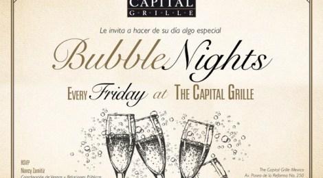 The Capital Grille presenta noche de Drinks y Bubble Nights