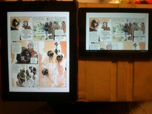 comic ipad retina vs bq maxwell 2 plus