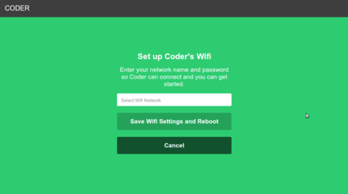 coder wifi setup raspberry pi
