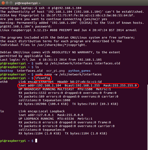 [versión antigua] Poner la dirección IP fija en Raspbian