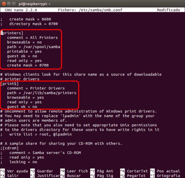 optimizar SAMBA  NAS o servidor casero en la Raspberry Pi 07