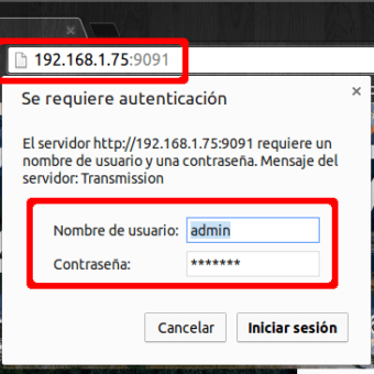 como acceder a transmission via web