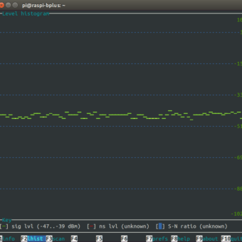 wavemon comparativa antena wifi raspberry