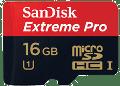 tarjetas microSD SanDisk Extreme Pro 16 GB UHS-I