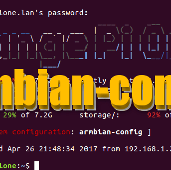 Configura tu armbian con armbian-config