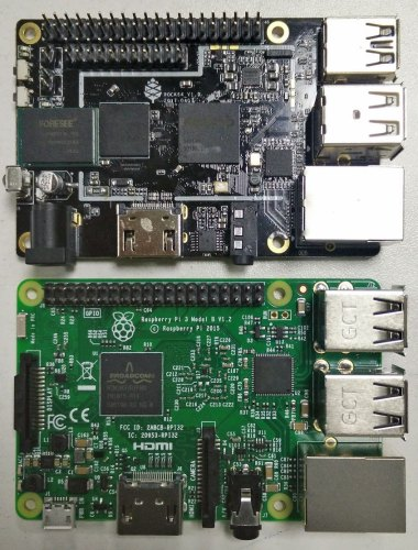 placa ROCK64 vs RPi 3
