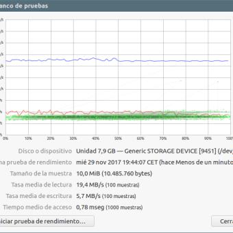 * test velocidad Lexar 300x 8GB