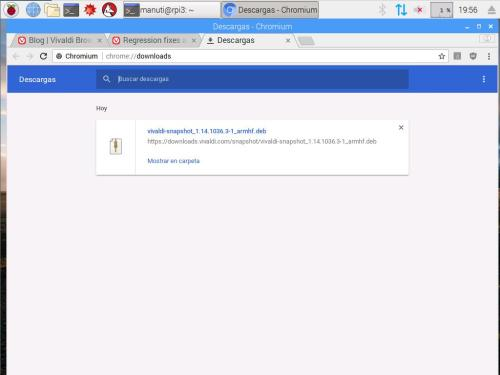 descarga en chromium