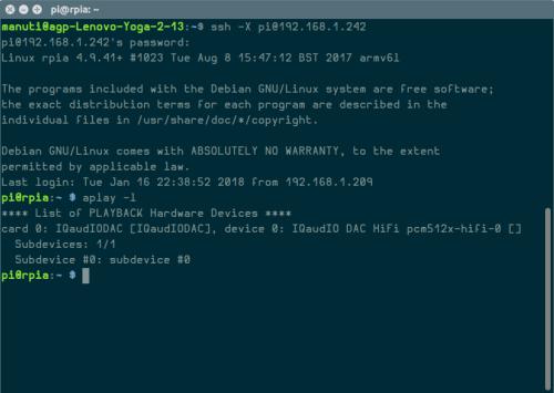 configurar X920 HIFI DAC+ PCM5122