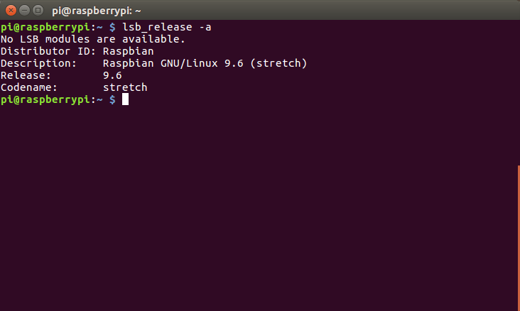 que-version-raspbian