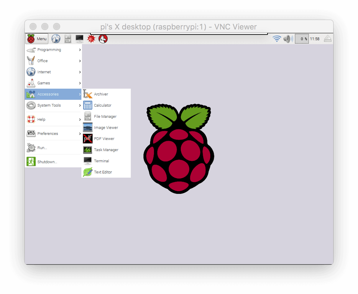 Raspbian Desktop User Interface