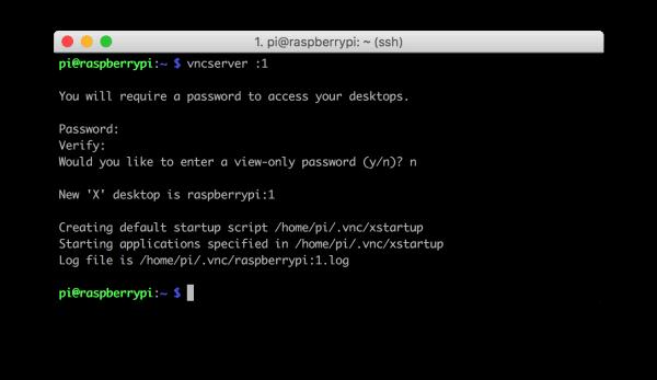 VNC instellen op raspberry Pi
