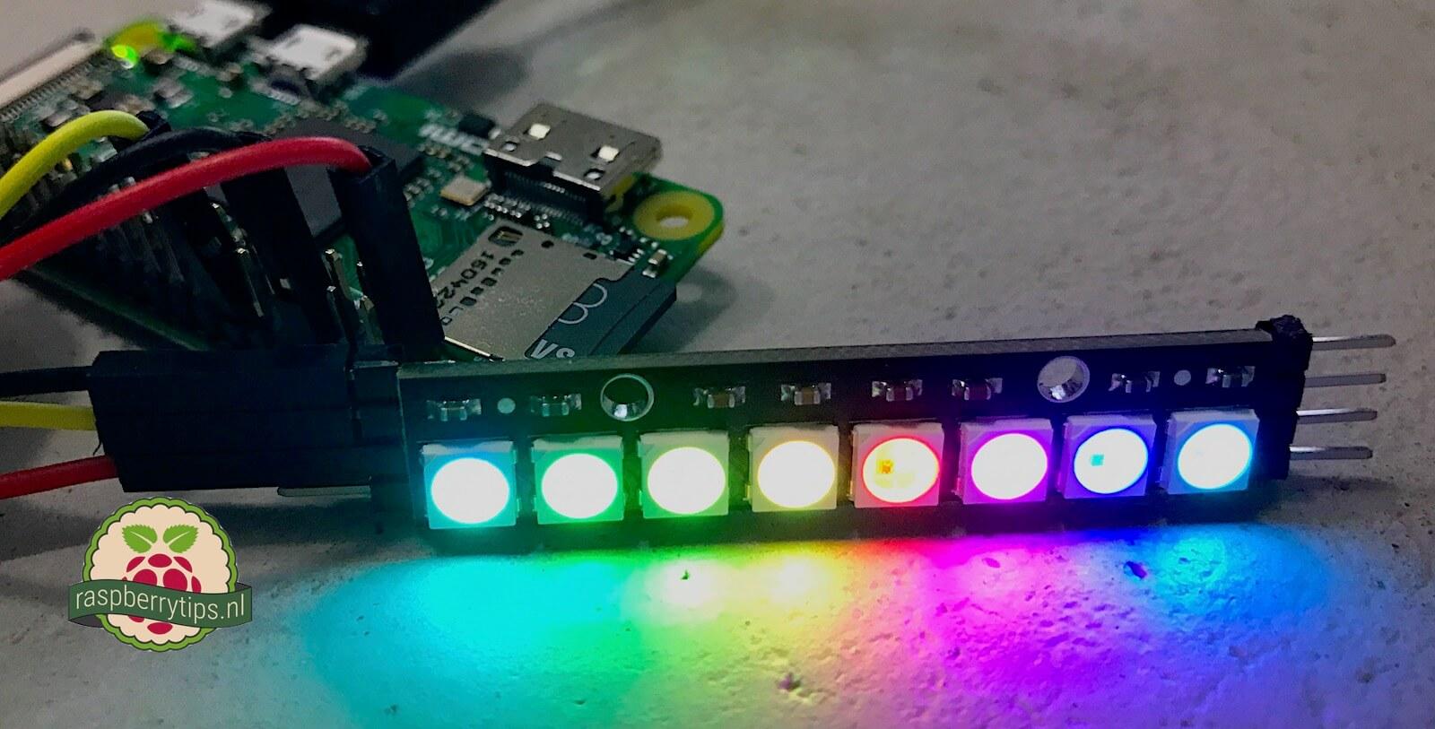 NeoPixel stick aansturen met een Raspberry Pi • raspberrytips nl