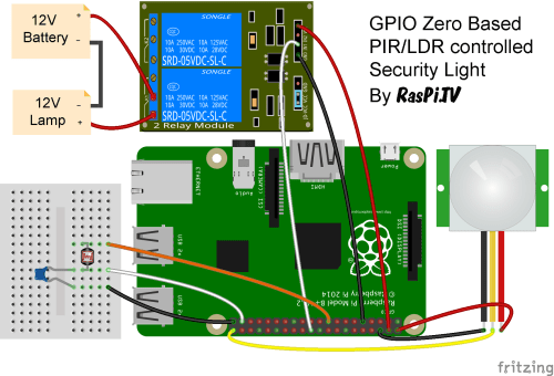 small resolution of circuit for gpio zero pir ldr 12v security light