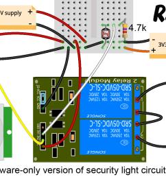 security light circuit in hardware only zero lines of code  [ 1406 x 846 Pixel ]
