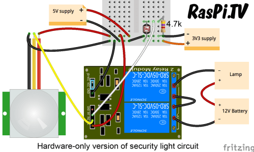 small resolution of security light circuit in hardware only zero lines of code