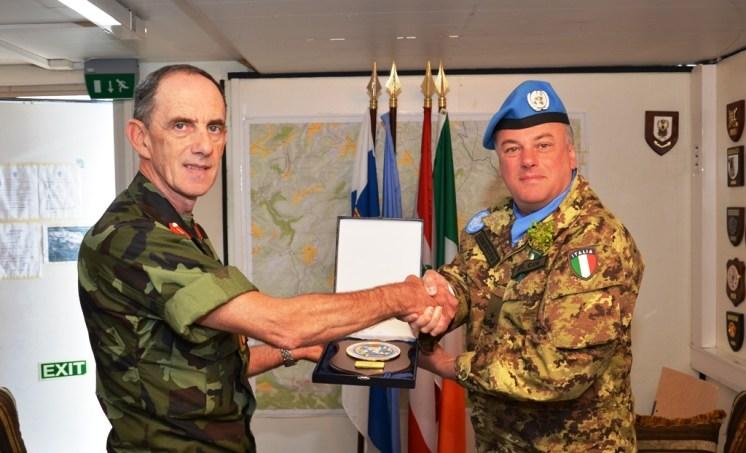 Gen. Del COL con il Capo di stato maggiore delle forze di difesa Irlandesi
