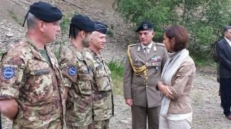 La Presidente della Camera saluta il contingente italiano
