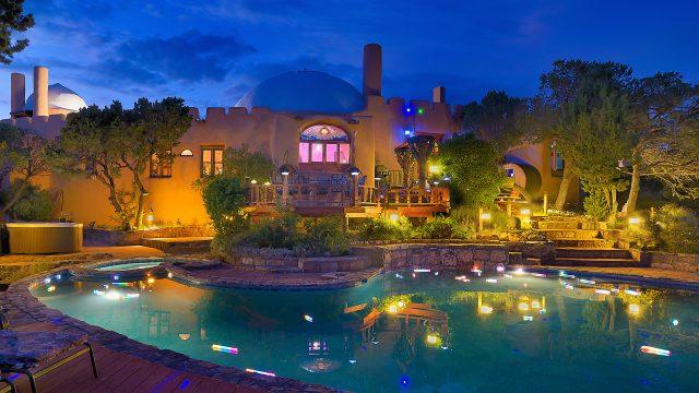 rass mandal swimming pool at night
