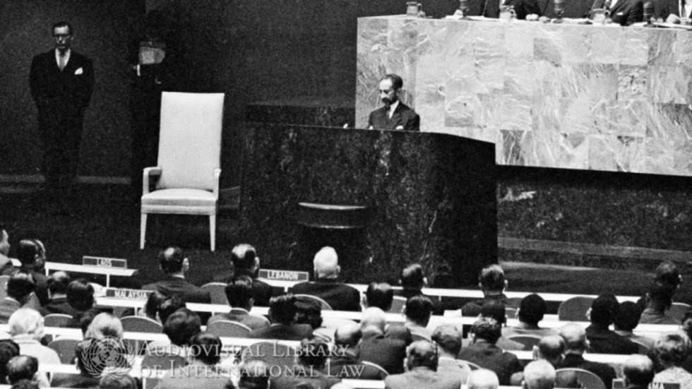 haile selassie emperor of ethiopia oct 6 1963 un address