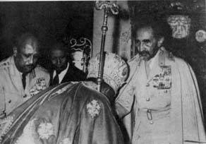 Image result for pope bowing to haile selassie