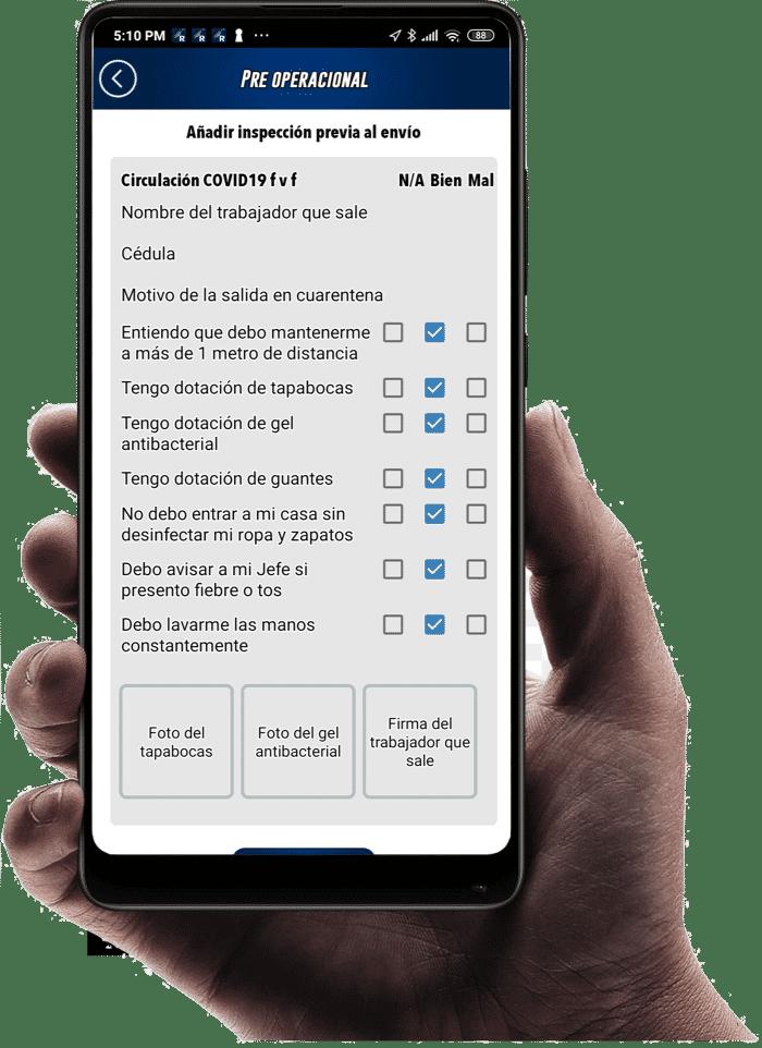 protocolo COVID app Rastrack