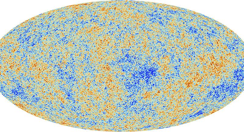 Figür 3: Planck uydusu tarafından elde edilen kozmik mikrodalga arkaplan ışıması (CMB-R)