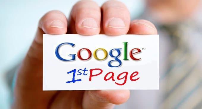 Google's first page rankings