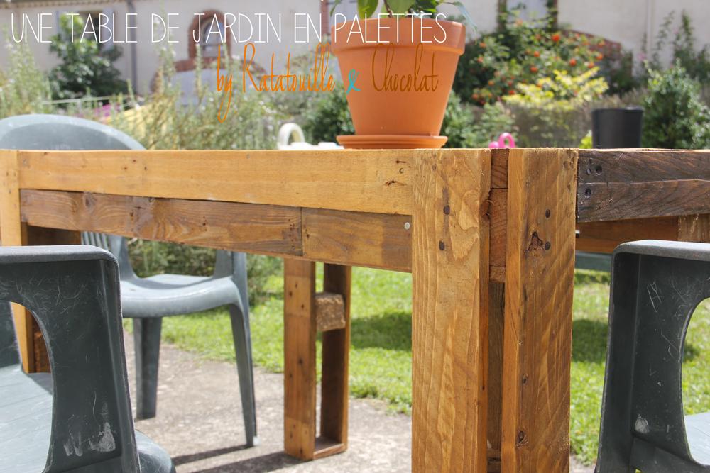fabriquer une table de jardin en palettes