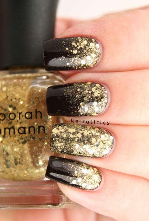 дизайн ногтей с золотом 1