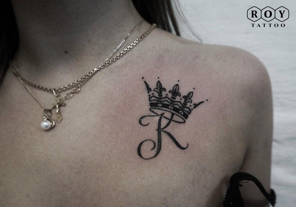 100 лучших идей тату корона со значением для девушек на фото