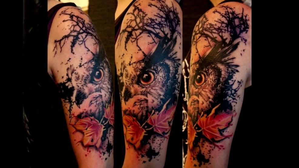 100 лучших идей тату сова для девушек и парней на руке ноге с фото