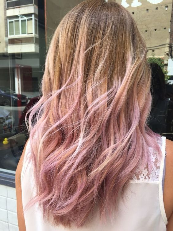 The most fashionable types of dyeing for long hair 13