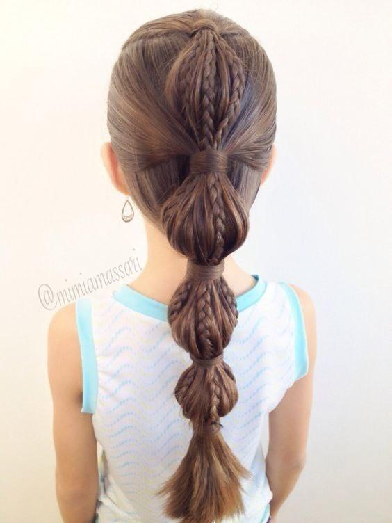 Simple and trendy hairstyles to school 8
