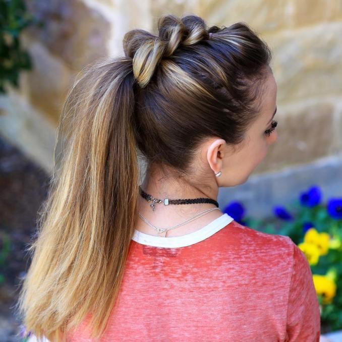 Simple and trendy hairstyles to school 10