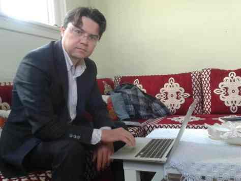 Ibrahim Cin at his office in Eastwood School. Credit: Kate Wilson